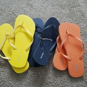 💙3 pair Old Navy flip flops